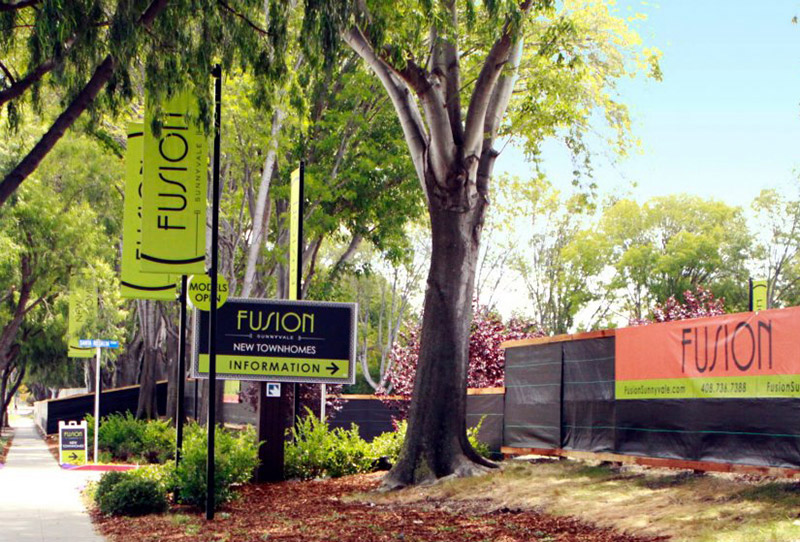 Fusion Signage at Sunnyvale, CA by O'Brien Homes