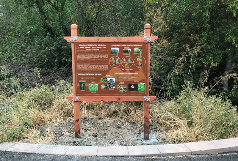 Park Interpretive Sign for Harvest Court by Marketshare