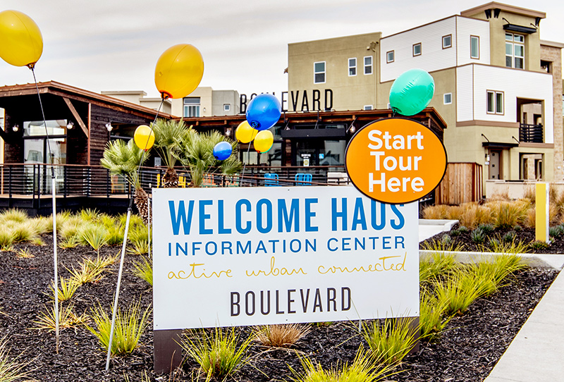 Boulevard Height , sales environments and signage for new home builders