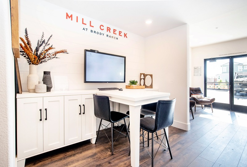 mill creek sales center by Marketshare, marketing for new home builders